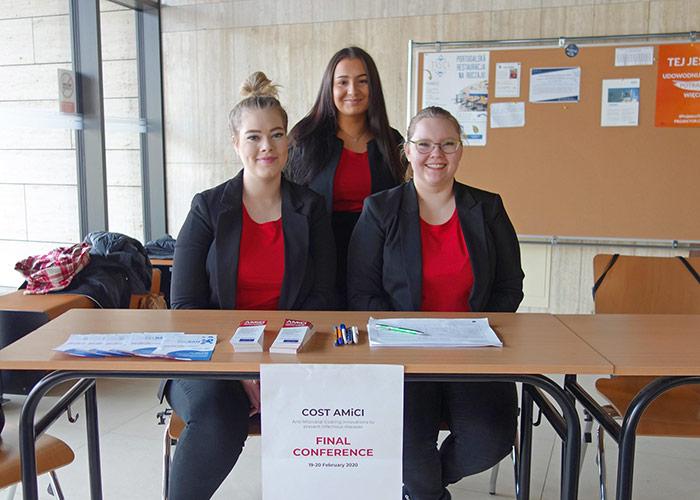 The AMiCI conference, SAMK students